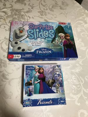 Disney Frozen Board Game and Puzzle for Sale in Fremont, CA