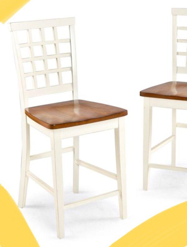 New!! Barstool, bar stool. stool , dinning room furniture, kitchen furniture, dinning room barstool, kitchen barstool ,set of 2, white and java
