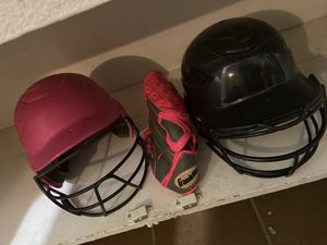 Rawlings helmets and franklin glove girls youth softball gear for Sale in Las Vegas, NV
