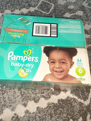 Pampars Baby-Dry, 6 size, 64 diapers for Sale in Murphy, TX
