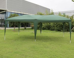Green Canopy 10' wide x 20' long EZ POP UP Folding Canopy for outdoor dining, Parties, Gyms, outdoor events Cross-Bar for Sale in Phillips Ranch, CA