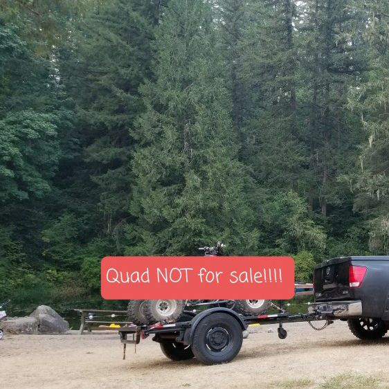 """Trailer 5' Ft x 6' 6"""" inches Long. In good condition every thing works: lights, wheels, hitch."""
