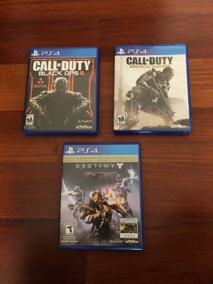 Call of Duty: Black Ops III, Call of Duty: Advanced Warfare and Destiny: The Taken King for Sale in Chicago, IL