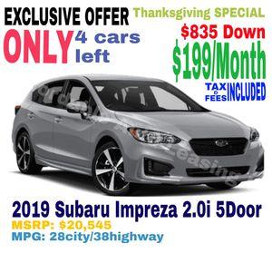 2019 Subaru Impreza 2.0 5Door for Sale in Los Angeles, CA