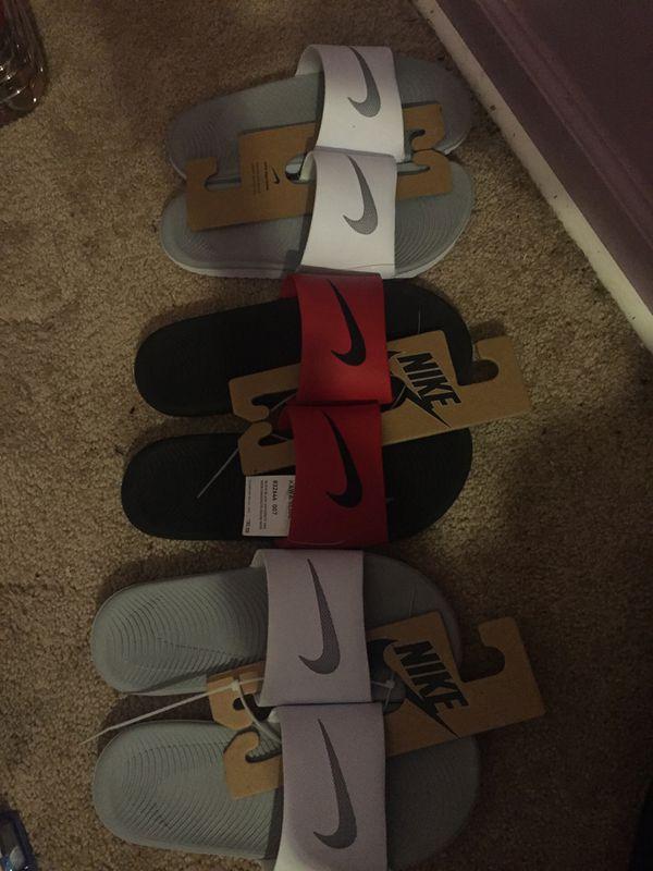 Band New Nike Slides