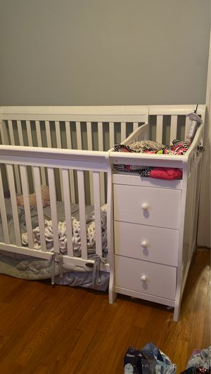 Crib and with changing table and storage for Sale in Manchester, CT