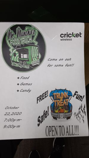Cricket wireless and Mr. Munchiez Trunk or Treat for Sale in San Angelo, TX