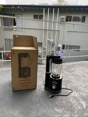 VACUUM BLENDER 5 SPEED BY FORTON WITH GLASS JAR for Sale in Beverly Hills, CA