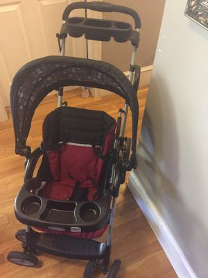 Graco RoomFor2 Click Connect Stand and Ride Double Stroller, Glacier for Sale in Boston, MA