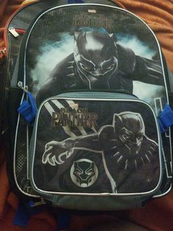 New Black Panther Backpack w/ Lunch Bag for Sale in Silver Spring,  MD