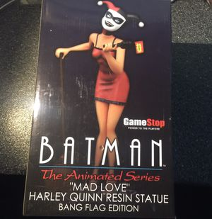 Harley Quinn Mad Love 12 inch statue BANG FLAG EDITION, Diamond Select Toys Batman The Animated Series Premier Collection Statue, Clayburn Moore, EXC for Sale in Queens, NY