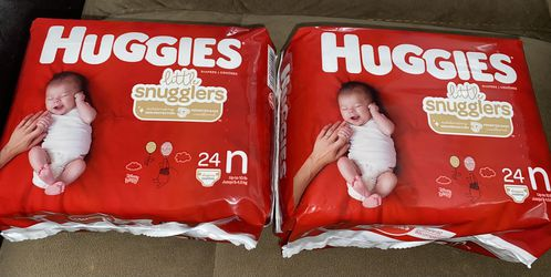 "Huggies ""little snugglers"" 24 count newborn diapers for Sale in Toms River,  NJ"
