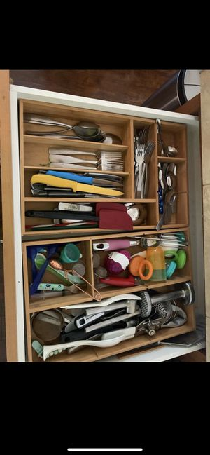 Kitchen utensils cutlery organizer trays for Sale in Vancouver, WA
