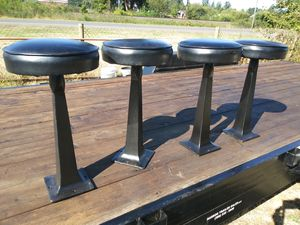 4 Vintage cast iron barstools for Sale in Elma, WA
