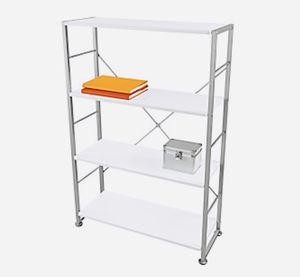 """Halton 47""""H 4-Shelf Bookcase, White for Sale in DeSoto, TX"""