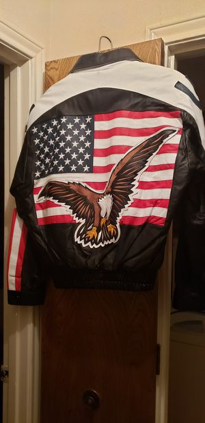 Men's Full Leather Motorcycle Jacket - New for Sale in Rowlett, TX