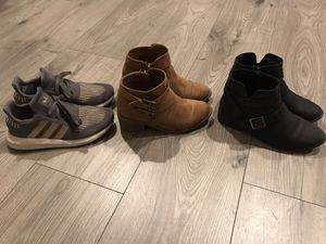 Size 1 girls Adidas and boots for Sale in Las Vegas, NV