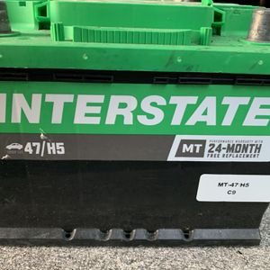 Car Battery Inter estate Mt-47 H5 Works Great for Sale in Pompano Beach, FL