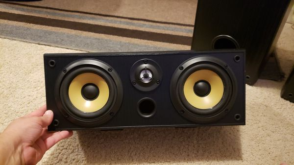 Front and center sony speakers