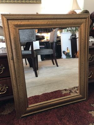 SPRUCE UP your HOME with this STURDY, BEAUTIFUL GOLD FRAMED MIRROR! for Sale in Aldie, VA