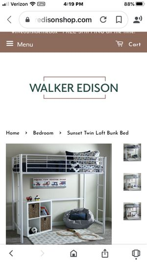 Walker Edison twin loft bed for Sale in Granite Falls, WA