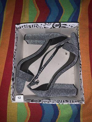 Brash Metallic Silver Women's Glitter Metallic Sandal - Size 12 regular - wore only once for Sale in Sacramento, CA