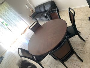 Wooden Table with 5 Chairs for Sale in Davie, FL