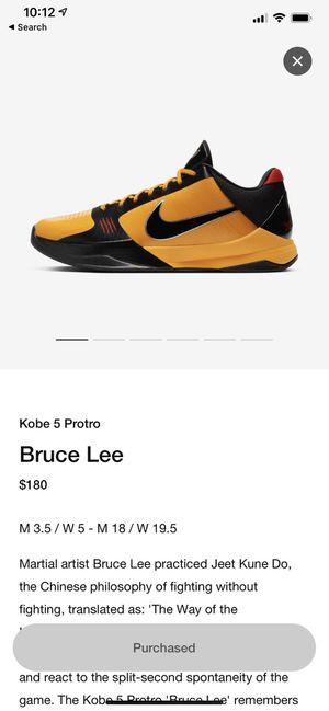 Kobe Proto 5 Bruce Lee size 11 *ORDER CONFIRMED* for Sale in Lorton, VA