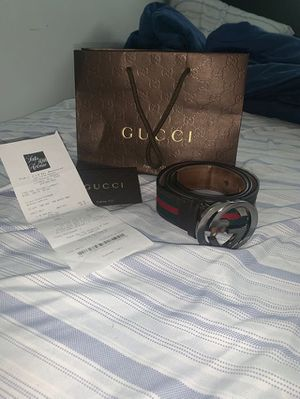 Gucci belt with receipt for Sale in Columbus, OH