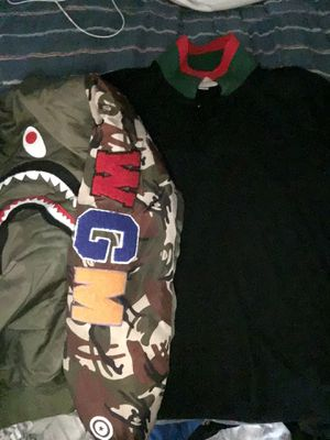 Gucci shirt and bape Jacket for Sale in Cincinnati, OH