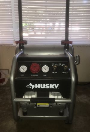 Husky 4.5 gal portable electric powered silent air compressor for Sale in San Antonio, TX