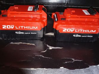Porter & Cable 20v Lithium Bateries for Sale in Yakima,  WA