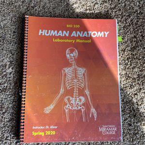 Human Anatomy Lab Manual BIO230 for Sale in San Diego, CA