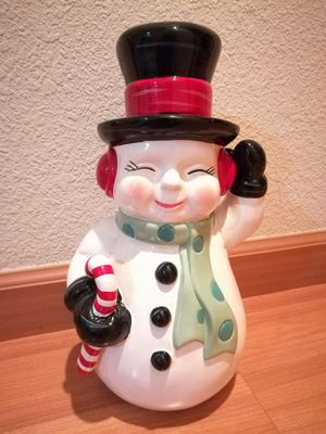 Happy Holidays Snowman Porcelain Home Decor for Sale in Sunnyvale, CA