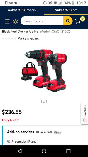 Craftsman 20v impact drill set w/85 piece bit/ grinder for Sale in DeBary, FL
