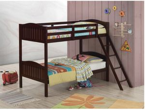 Brown Kids Bunk Bed twin/twin for Sale in Riverdale, GA