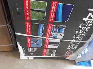 Trampoline 14ft new in box w/basketball hoop for Sale in Palmdale, CA