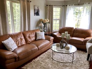 Genuine leather sofa and loveseat for Sale in Wasilla, AK