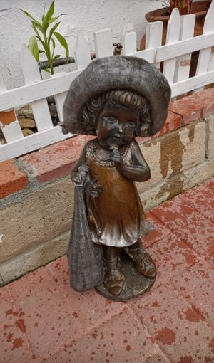 """Little Girl Playing Dress-up Garden 18"""" Statue for Sale in City of Industry, CA"""