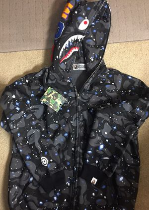 Bape Shark Head hoodie ( glow in the dark) for Sale in Roseville, CA