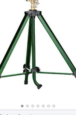 Brass Impact Tripod Sprinkler Green Color - Upto 7000 Sq Ft Area Coverage $22 for Sale in Boyds,  MD