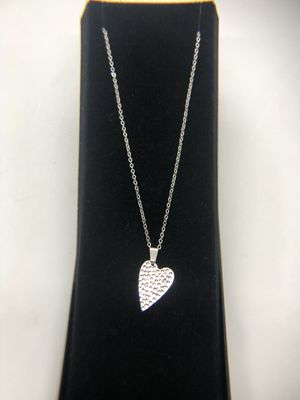 Silver color heart necklace for Sale in Olympia, WA