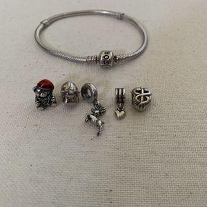 6.3 Clasp Pandora Charm Bracelet W/ Charms for Sale in Oxnard, CA