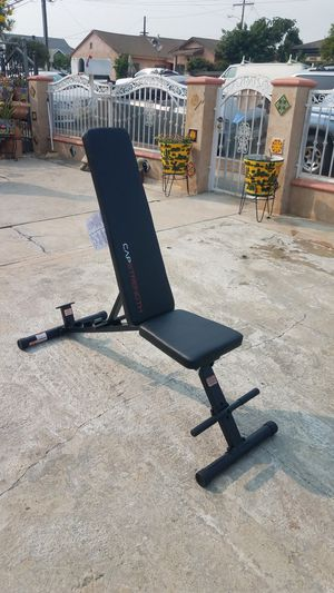 600lbs Foldable Space Saving Adjustable workout bench tested as 1000lbs Brand new for Sale in Montebello, CA