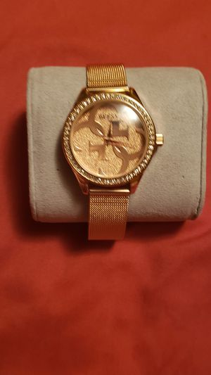 New watch guess color rose gold stainless steel for Sale in Wichita, KS