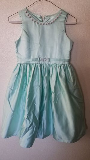 Size 12 daddy daughter dance winter formal Christmas birthday party pearl gold quality material dress Halloween costume Cinderella princess jasmine for Sale in Avondale, AZ
