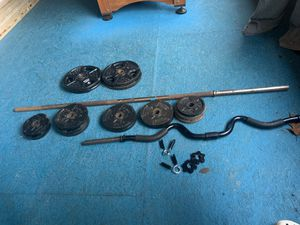 Weight bars and plates for Sale in Woodbridge, VA