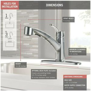 Delta Collins Pull Out Kitchen Faucet for Sale in Sarasota, FL