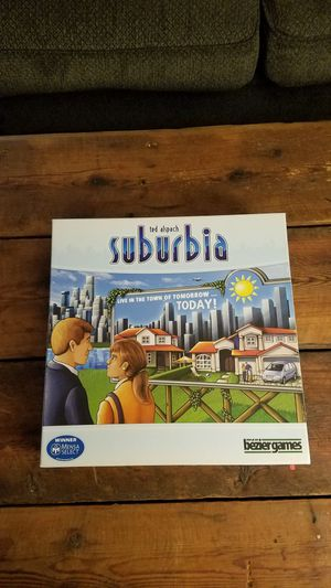 Suburbia Board Game with 2x expansions for sale or trade for Sale in Virginia Beach, VA