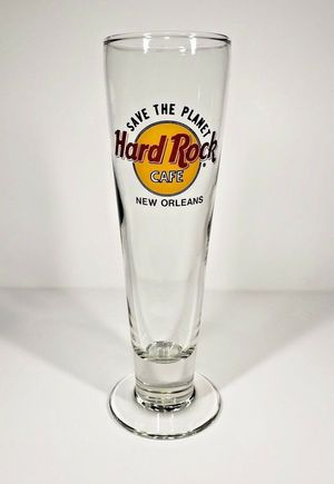 Hard Rock Cafe NEW ORLEANS Save the Planet Tall Pilsner Beer Glass for Sale in Lebanon, OR